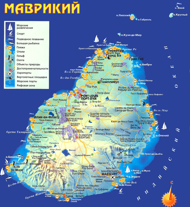 карта Маврикии